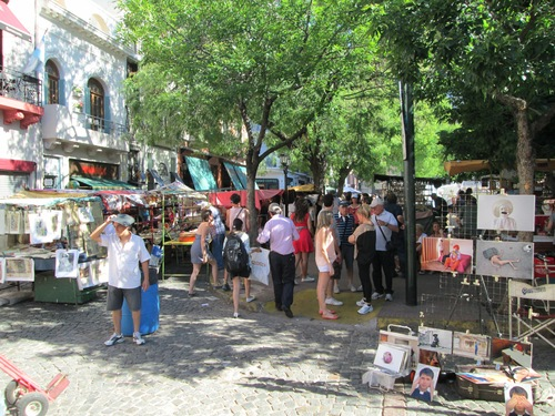 Street market in San Telmo