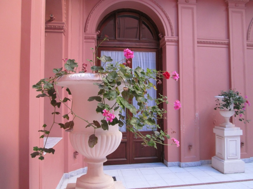 A courtyard in Casa Rosada