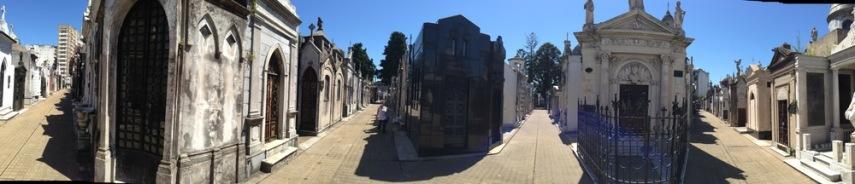 Recoleta Cemetery panorama