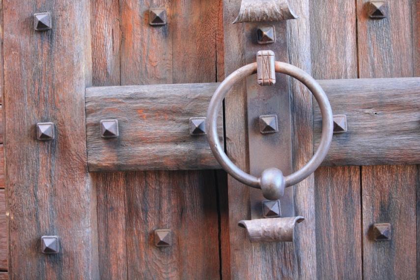 Doors at Castello di Amorosa