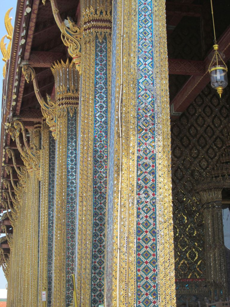Details of the pillar's on the Emerald Buddha's building