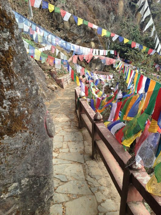 Near the monastery, the trail has been improved for safety