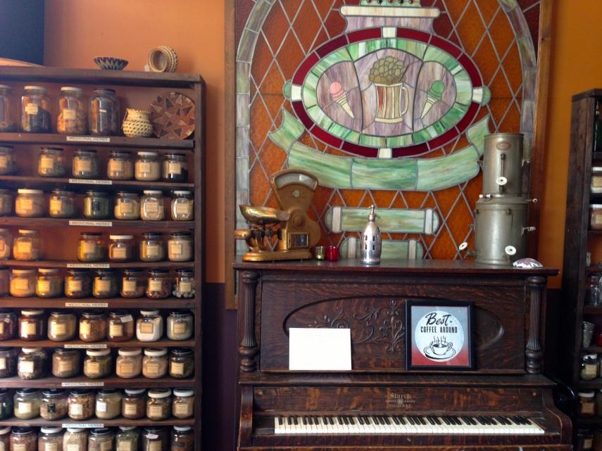 Inside Vashon Coffee Roasters' general store