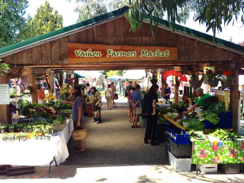 A farmer's market on an island that resembles a giant farmer's market