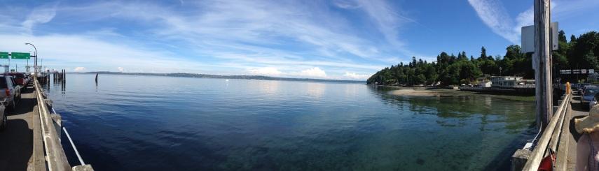 vashon ferry dock panorama