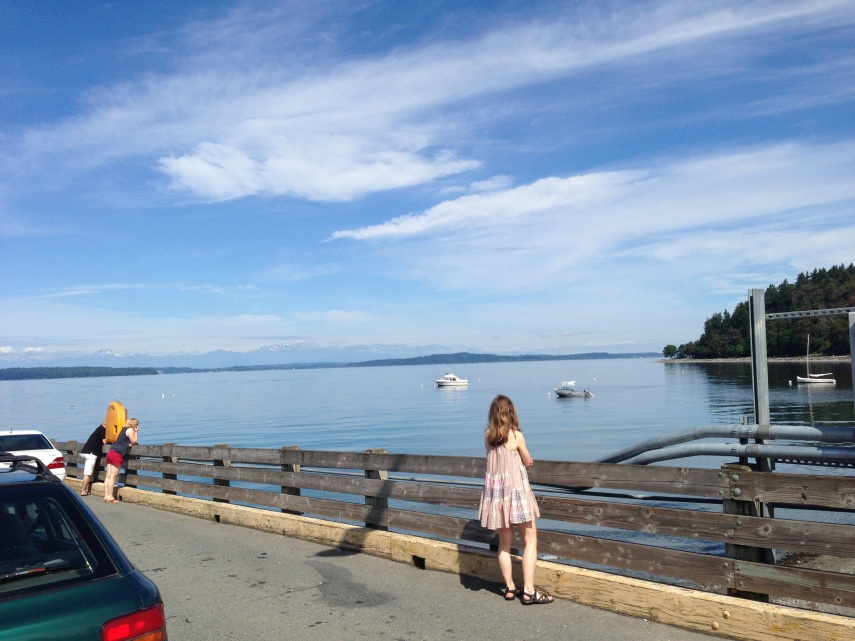At the Vashon-bound ferry dock in Seattle