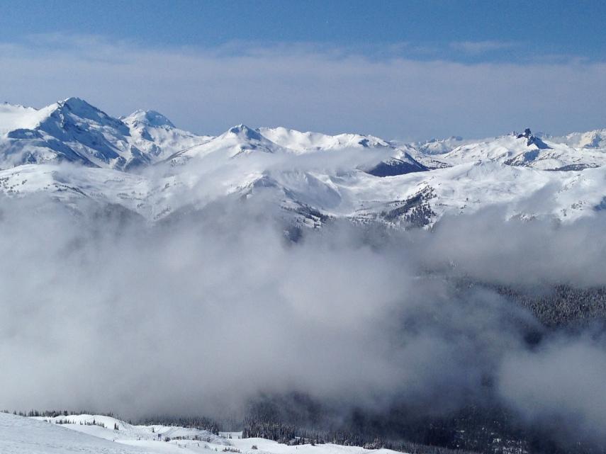 Coast Mountains; Mt. Garibaldi and the Black Tusk