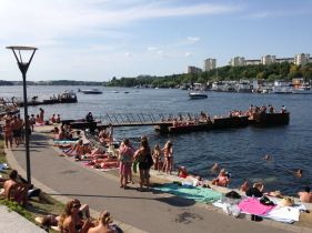 If you live in Stockholm, this is how you spend the entire summer (which lasts about a month, I was told...pretty sure that's exaggerated)