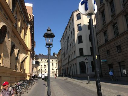 Arsenalgatan, a street in one of those areas with that pan-European feel