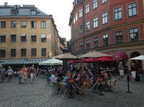 Outdoor dining in Järntorget