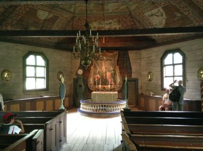 An old wooden church at Skansen