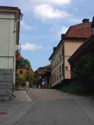 "One of the main ""streets"" in Skansen"