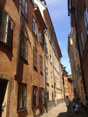 Typical Gamla Stan street; this one is named Själagårdsgatan