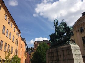 Statue of Saint George and the Dragon, which is symbolically Sweden vs. Denmark
