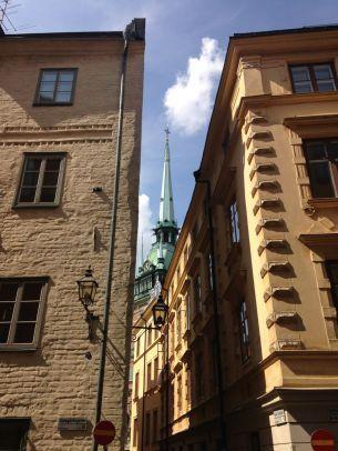 "Spire of Tyska Kyrkan, the ""German"" church"