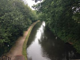 One of the many canals that criss-cross Birmingham
