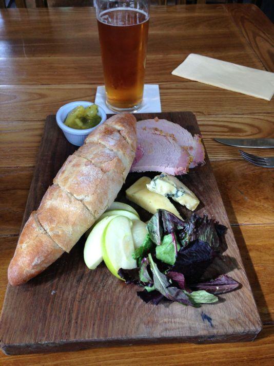 Good, hearty English fare: a Ploughman's lunch